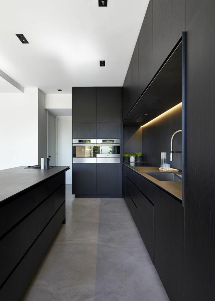 modulküchen singleküchen moderne kücheneinrichtung küchenschränke schwarz