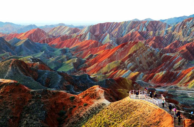 optische täuschungen bilder schöne naturbilder gansu china