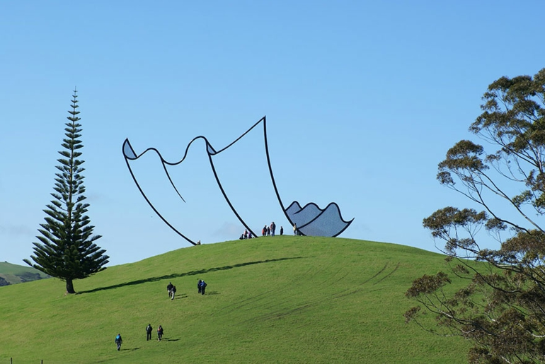 optische täuschungen bilder skulptur neuseeland