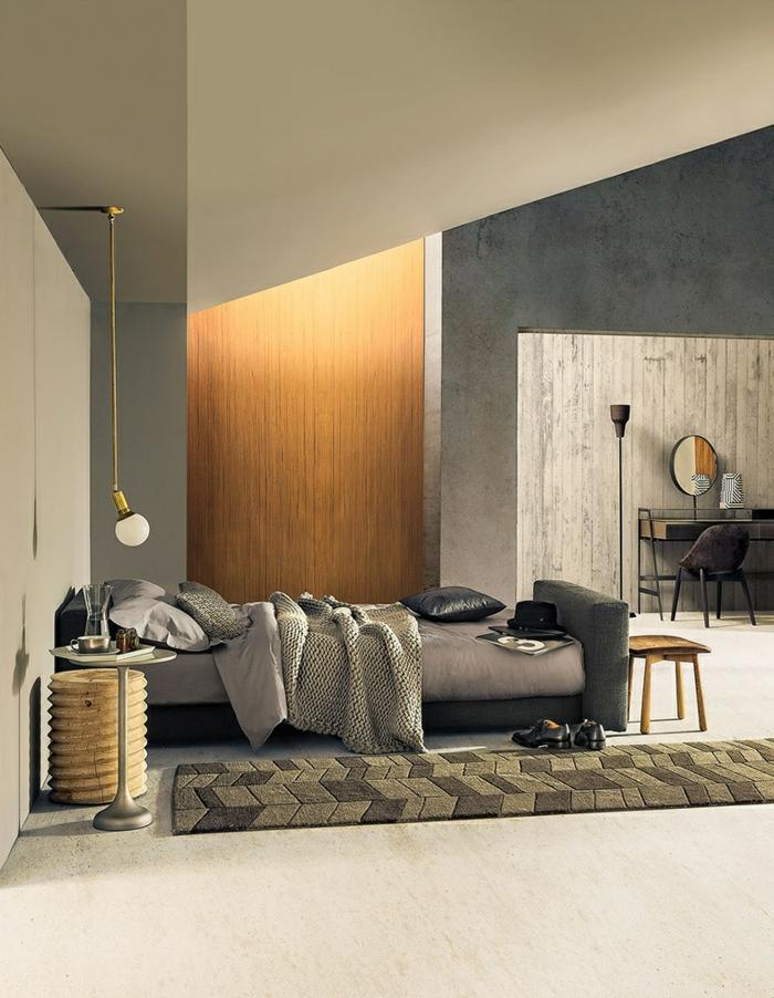 pendelleuchten design schlafzimmer beistelltisch
