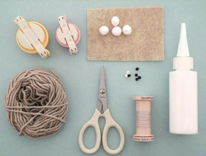 pompons basteln diy projekte kreative ideen osterhase materialien