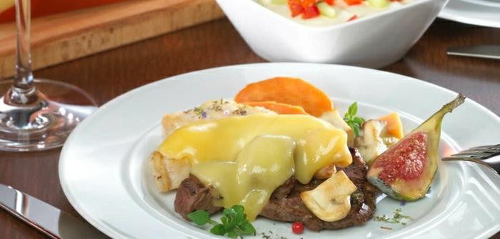 raclette rezepte steak feigen pilze