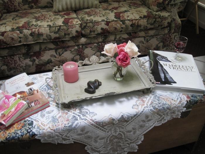 rosen deko kleine glasvase vintage tischdekoration