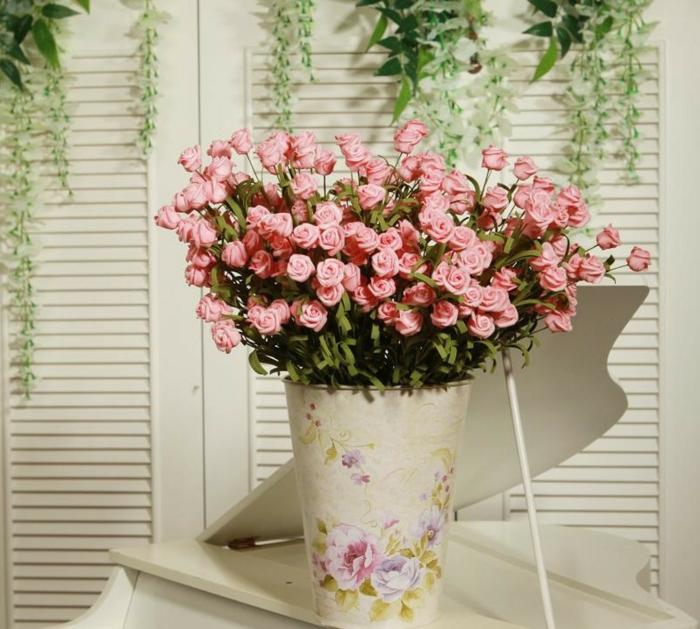 so machen sie ihre rosen deko nachhaltiger custom spring decor silk flower arrangement home