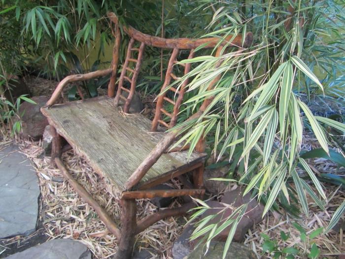 rustikale gartenmöbel außenmöbel gartenbank holz