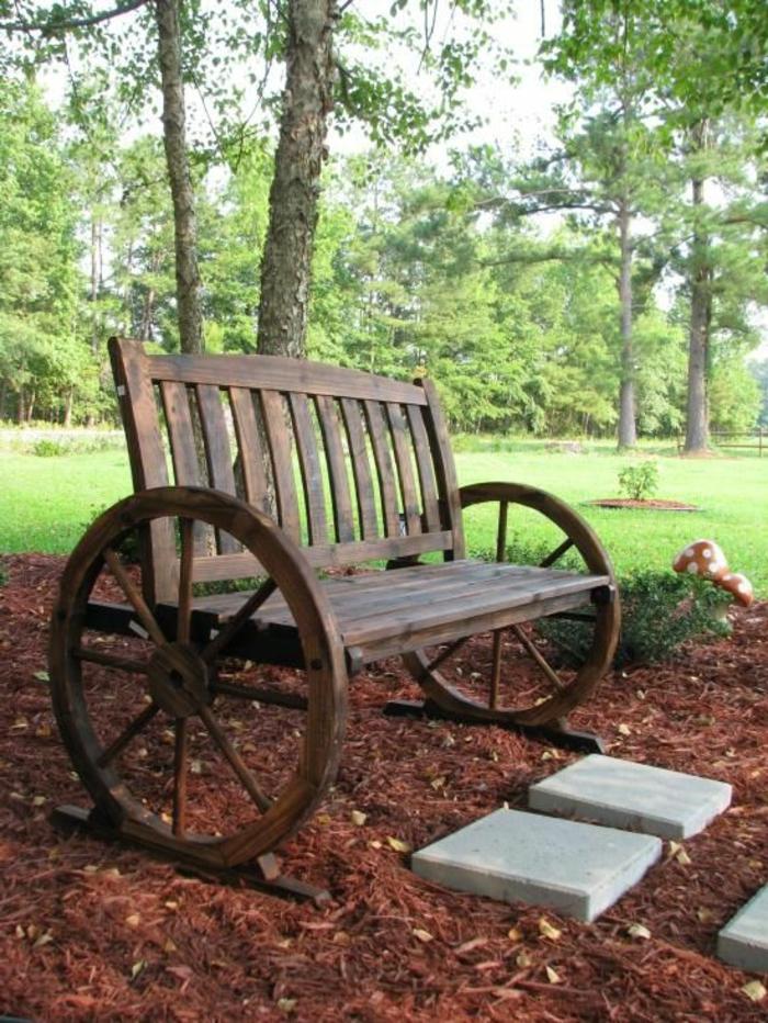 Rustikale gartenbank sorgt f r einmaliges exterieur for Gartengestaltung rustikal