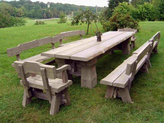 Gartenmbel Holz Massiv Stunning Gartentisch Holz Massiv Gera With