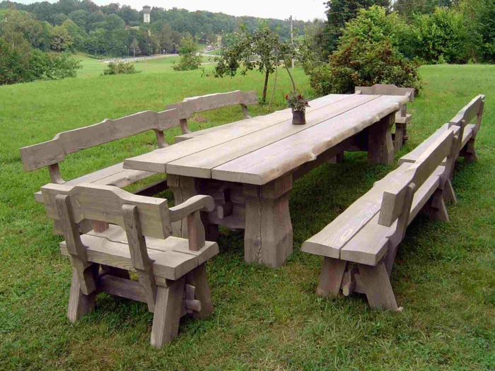 Gartentisch holz rustikal  Gartentisch Holz Rustikal | saigonford.info