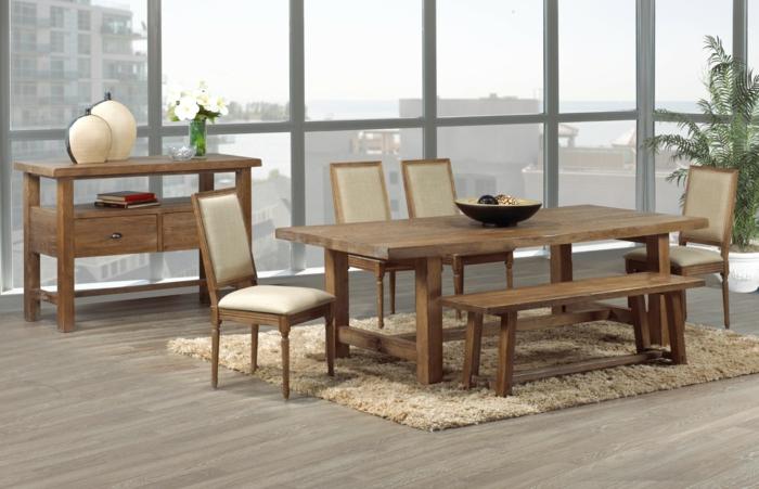 Rustikale Tische sind eine originelle Lösung für das moderne ...