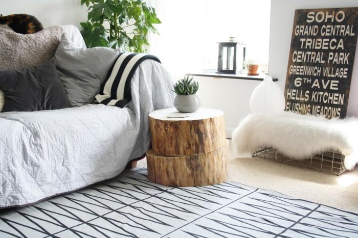 rustikale möbel wohnzimmermöbel beistelltisch wohnzimmerteppich