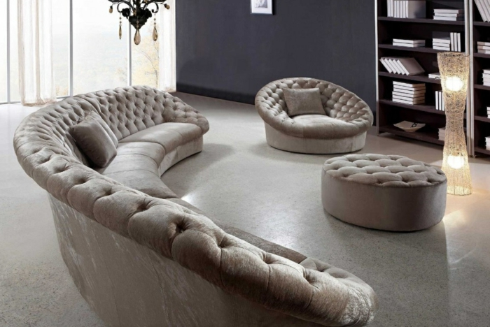 Ausgefallene sofas verleihen dem wohnzimmer eine for Couch wohnzimmer