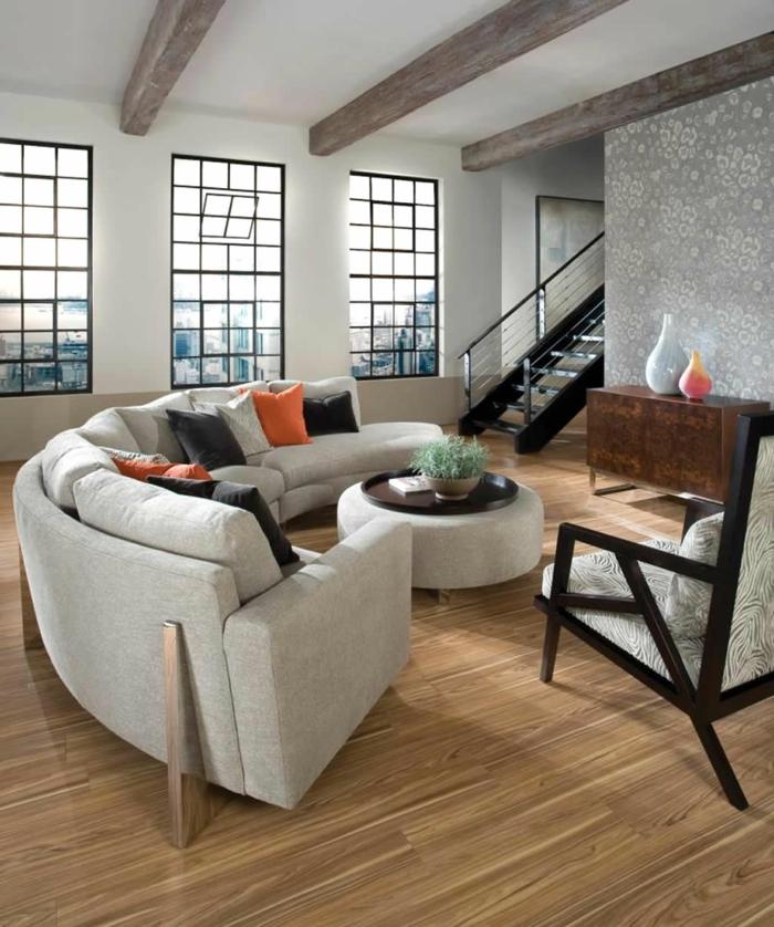 schöne sofas wohnzimmer interessantes design dekokissen