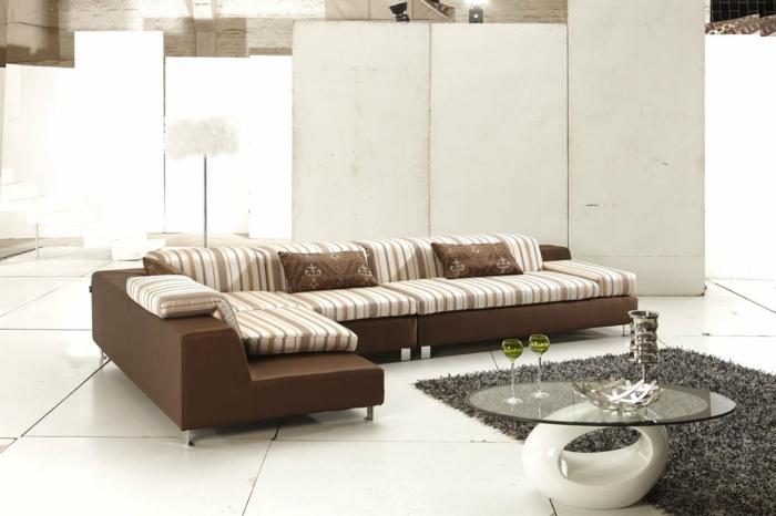 schöne sofas wohnzimmer möbel couchtisch glas
