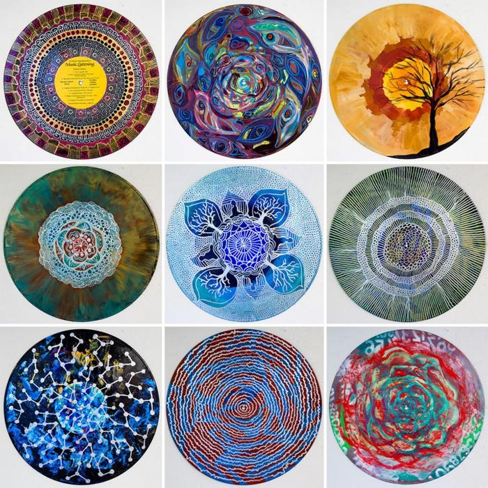 Coole Schallplatte Mandalas Als Farbenfrohe Wanddekoration
