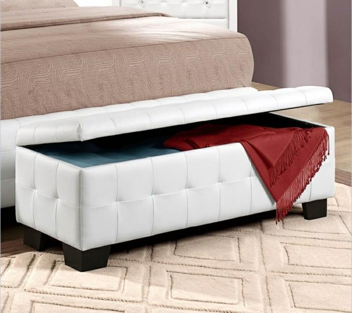 schlafzimmer bank weiß funktional schlafzimmer einrichten