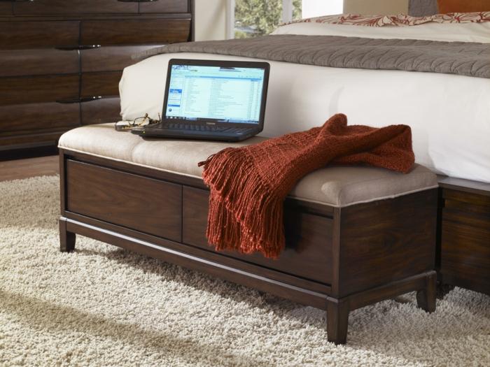 schlafzimmer bank zusätzliche fläche funktionales möbelstück