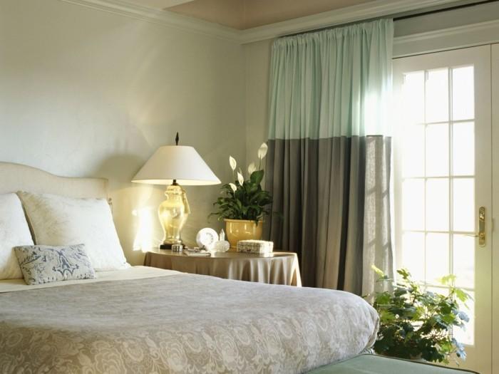 wohnideen schlafzimmer neutrale farben und pflanzen
