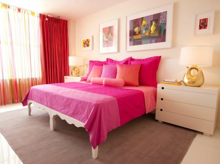 schlafzimmer einrichten frische farben kombinieren und heitere stimmung im schlafbereich schaffen