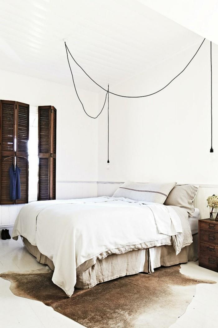 schlafzimmer einrichten helles schlafzimmer mit fellteppich