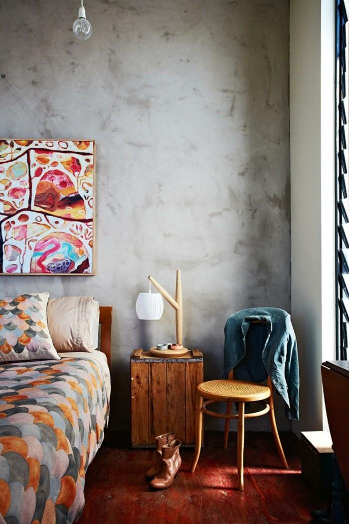 schlafzimmer einrichten holzboden und frische bettwäsche