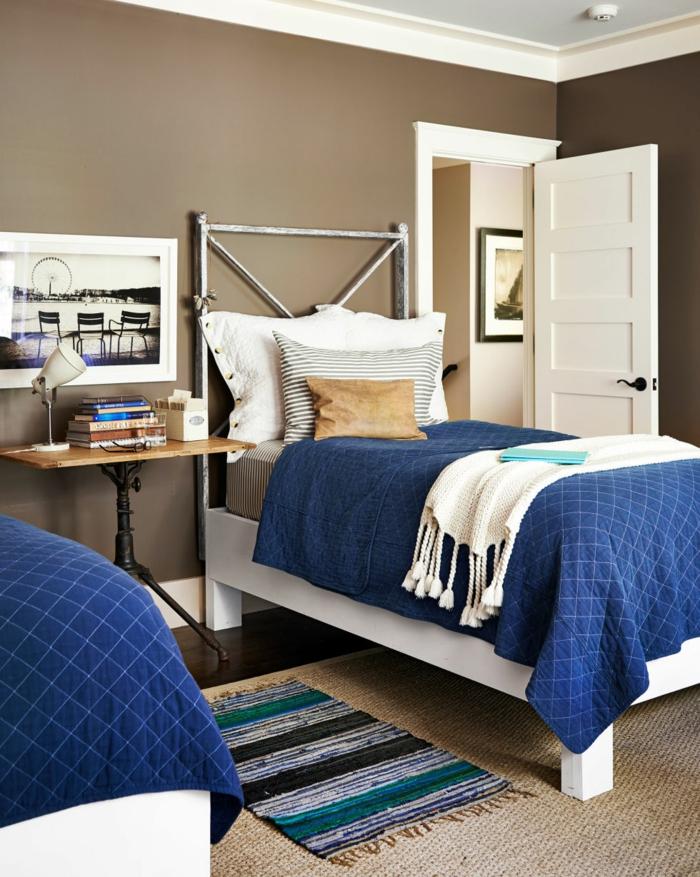 schlafzimmer einrichten ideen betten teppichläufer gästezimmer einrichten