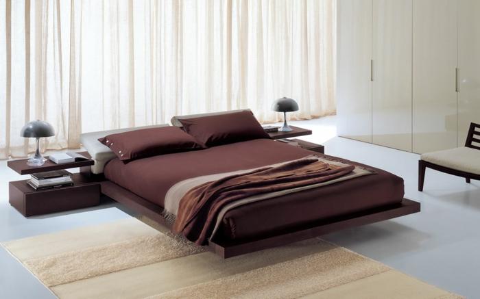 schlafzimmer einrichten ideen teppichläufer bettwäsche akzente
