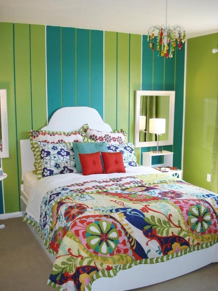 schlafzimmer einrichten schöne wandgestaltung und frische bettwäsche