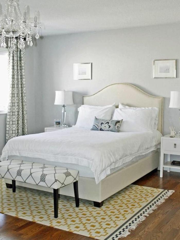 schlafzimmer einrichten tipps bodenbelag gelber teppich möbel