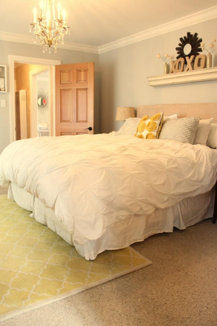 Gelber teppich f r eine frische und strahlende for Zimmer umgestalten tipps