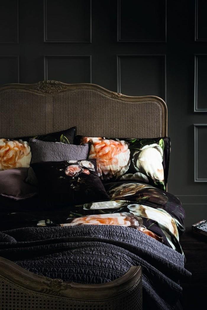 schlafzimmer ideen schwarzes innendesign mit männlicher ausstrahlung
