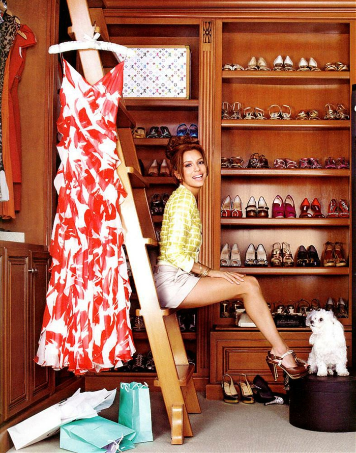 schuhschränke der stars Eva Longoria