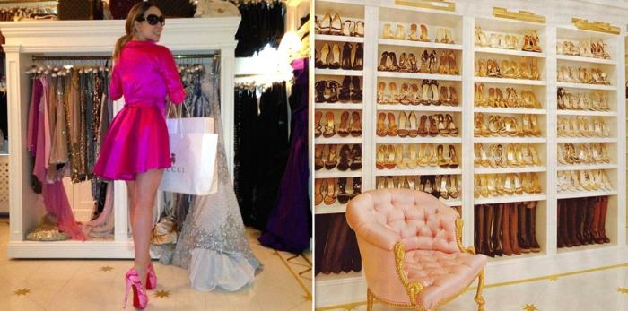 schuhschränke der stars Mariah Carey begehbarer kleiderschrank