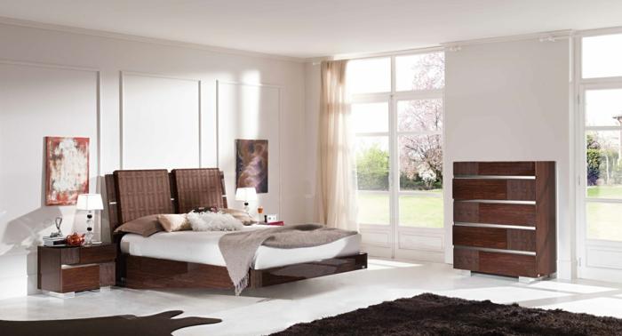 sschlafzimmer einrichten ideen zeitgenössische einrichtung teppich kommode