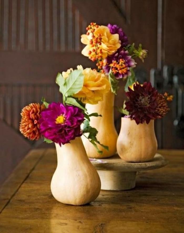 tischdeko selber machen vasen dahlien rosen
