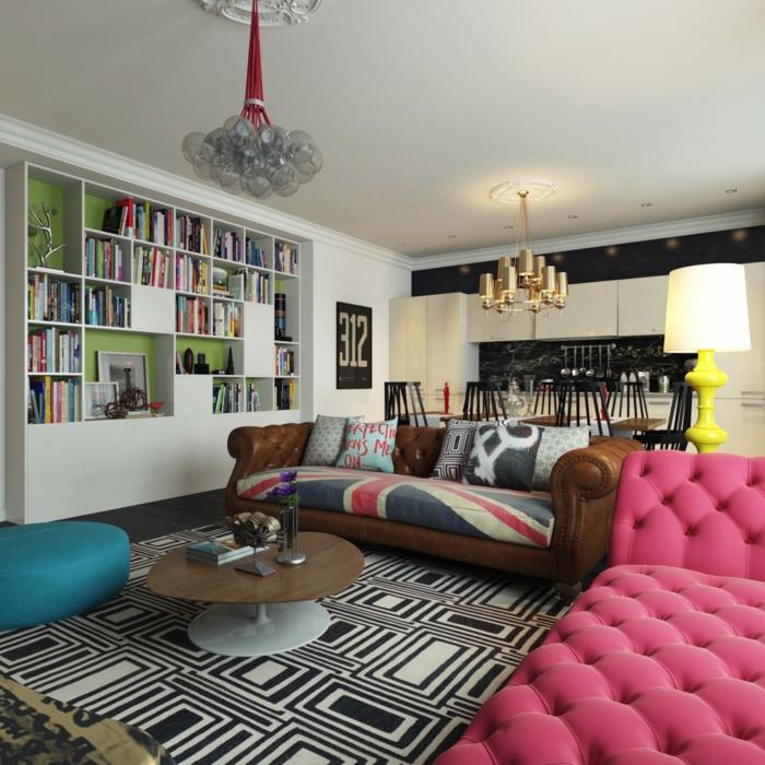 trends möbel wohnzimmer retro stil schöne wohnideen