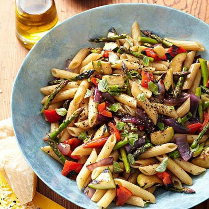 vegane rezepte nudel gegrilltes gemüse