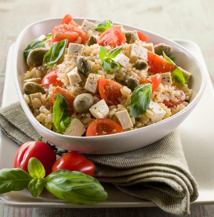 vegane rezepte risotto tofu tomaten oliven basilikum