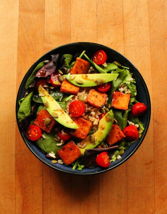 vergane rezepte salat avocado tomaten reis