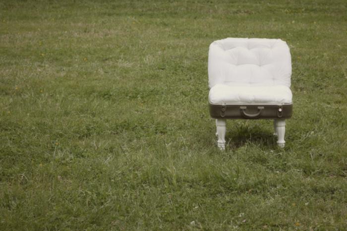 vintage koffer diy kleiner stuhl gepolstert
