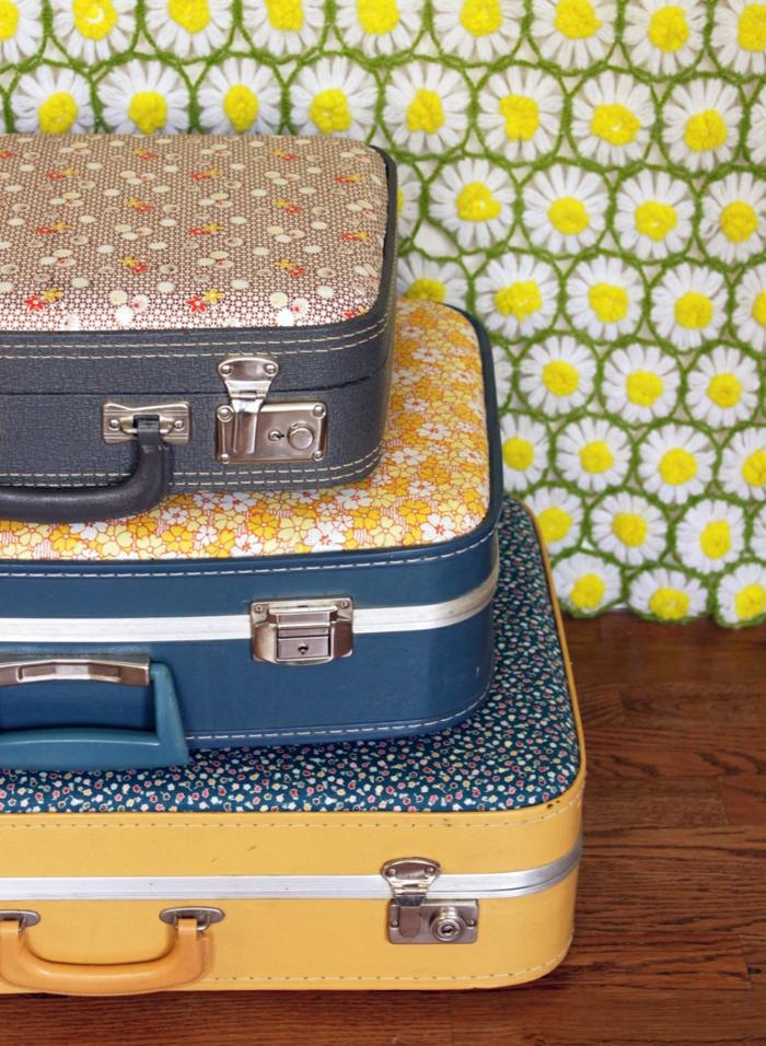 vintage koffer polstern dekoration