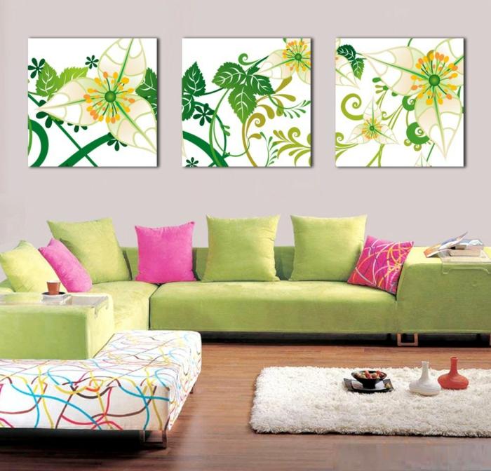 ... blumen : wandbilder wanddeko wanddekoration ideen wohnzimmer ideen