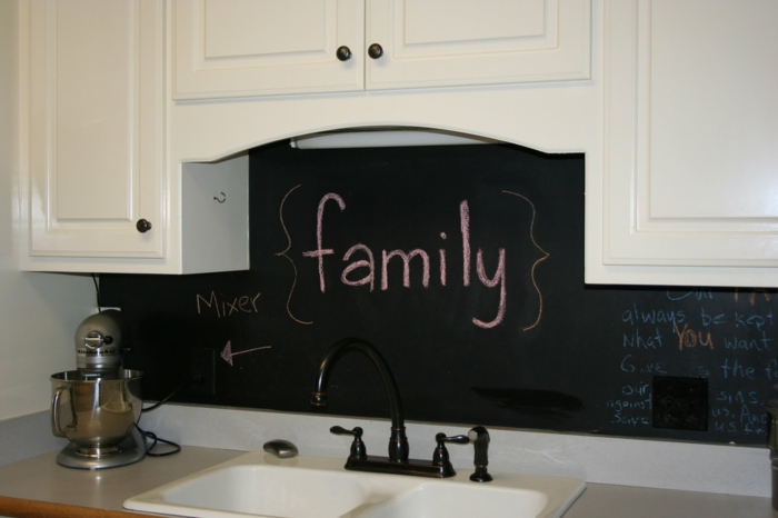 wandtafel küche coole wandgestaltung kreaive dekoideen