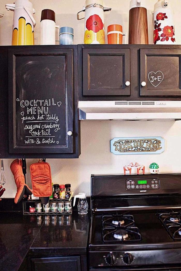 wandtafel küche küchenschrank kreative wohnideen