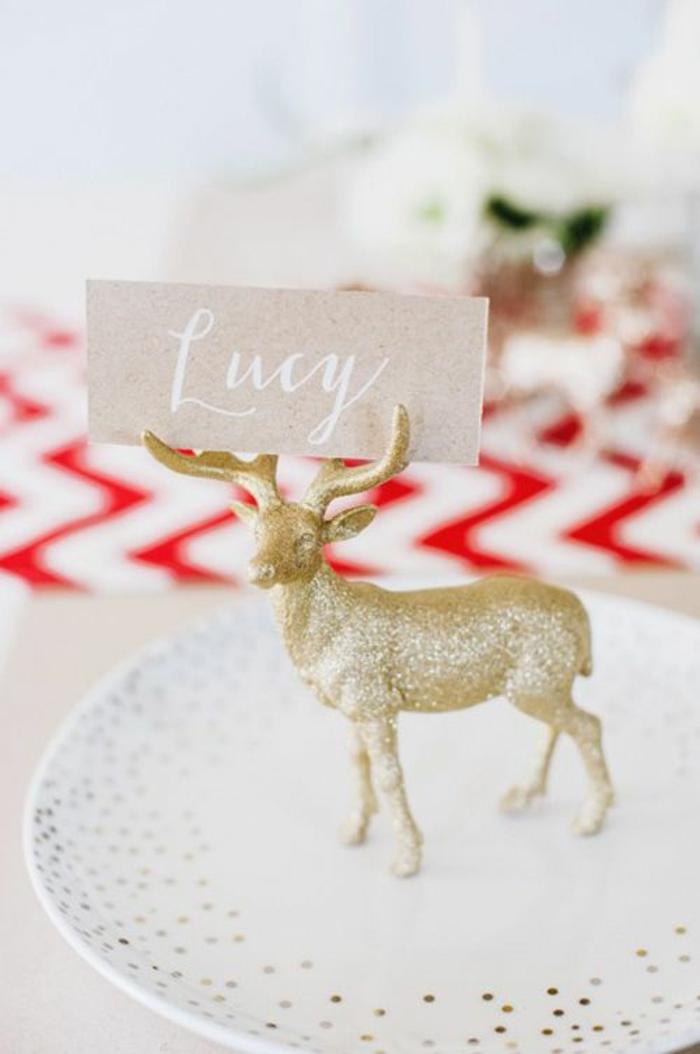 weihnachtliche tischkarten basteln tischdeko selber basteln