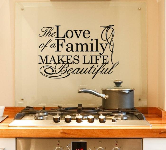 wohnideen küche wanddeko schöne dekoideen