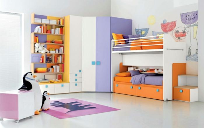 Grune Wandfarbe Fur Kinderzimmer : wohnideen kinderzimmer weiße wandfarbe offene wandregale farbige