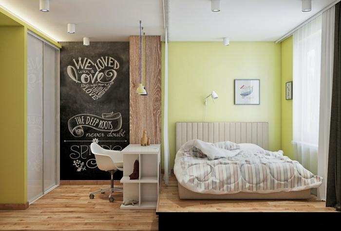 wohnideen schlafzimmer bereiche im schlafzimmer absondern
