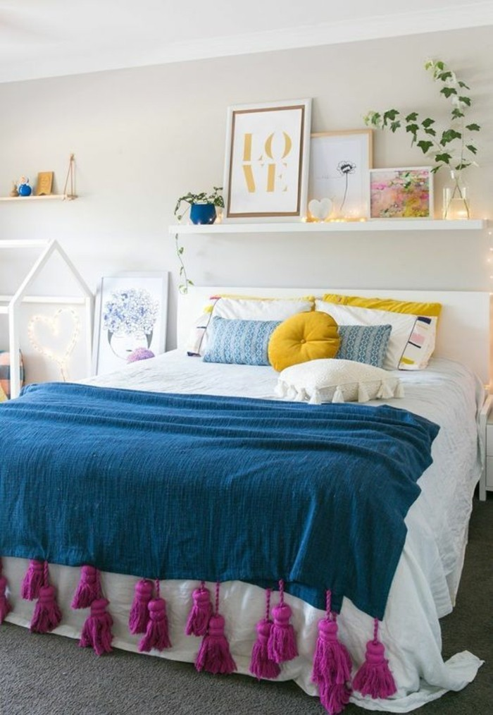 wohnideen schlafzimmer farbige akzente peppen das neutrale schlafzimmer auf