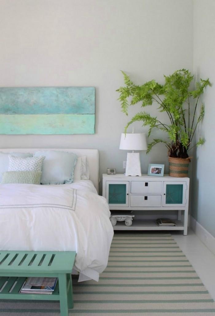 wohnideen schlafzimmer frische stimmug in den schlafbereich bringen