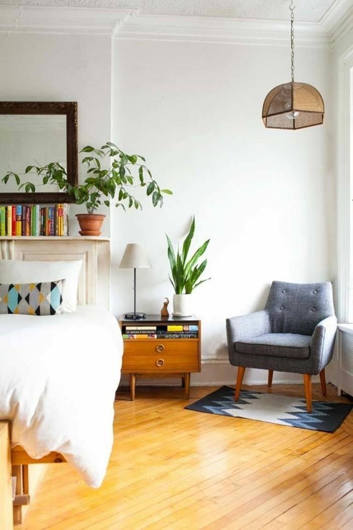 wohnideen schlafzimmer frisches innendeisign mit hellem bodenbelag